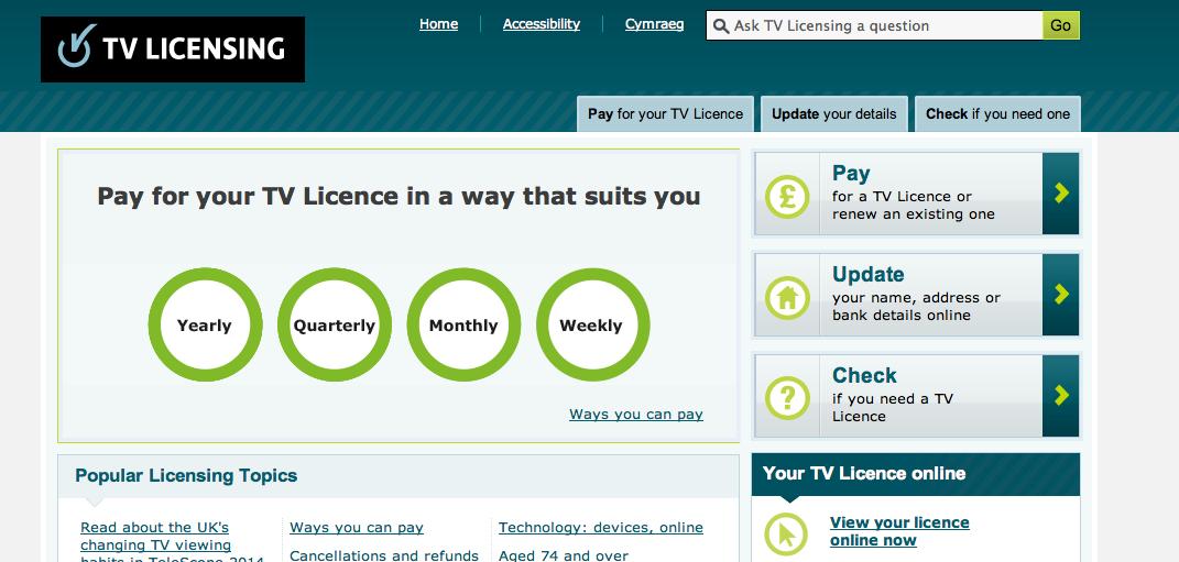 رخصة التلفزيون في بريطانيا