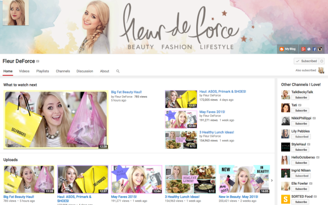My favorite YouTube Beauty and lifestyle Channels!