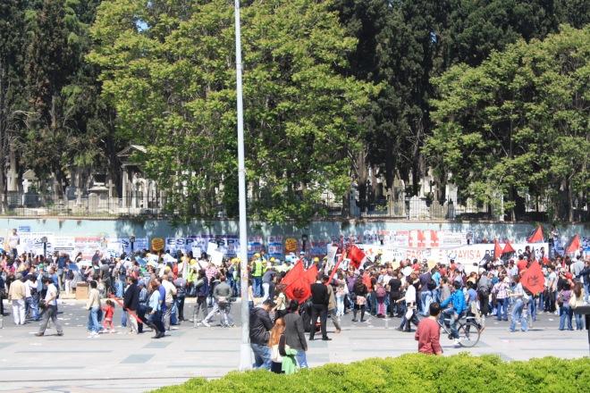 تغطيتي لمظاهرات يوم العمال في أسطنبول ٢٠١٢